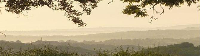 Depuis les Roches, la vue vers l`Est au petit matin